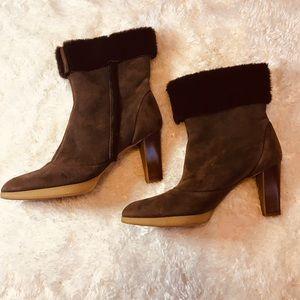 Salvatore Ferragamo Shoes - Ferragamo Salvatore Brown Ankle Boots Size 9.5
